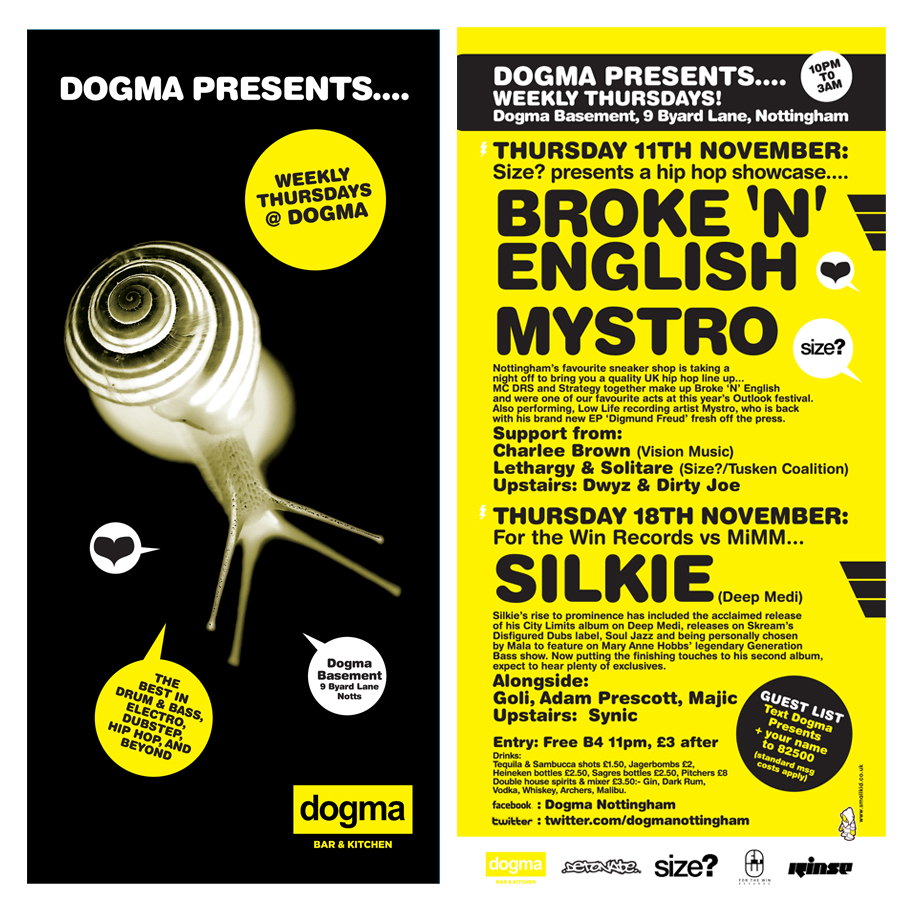 Dogma Thursdays Flyers