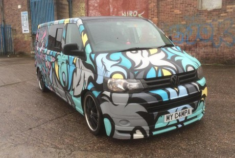 spray painted vw