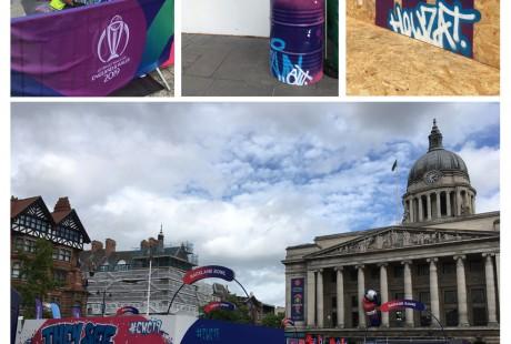 cricket world cup 2019 market square nottingham live graffiti
