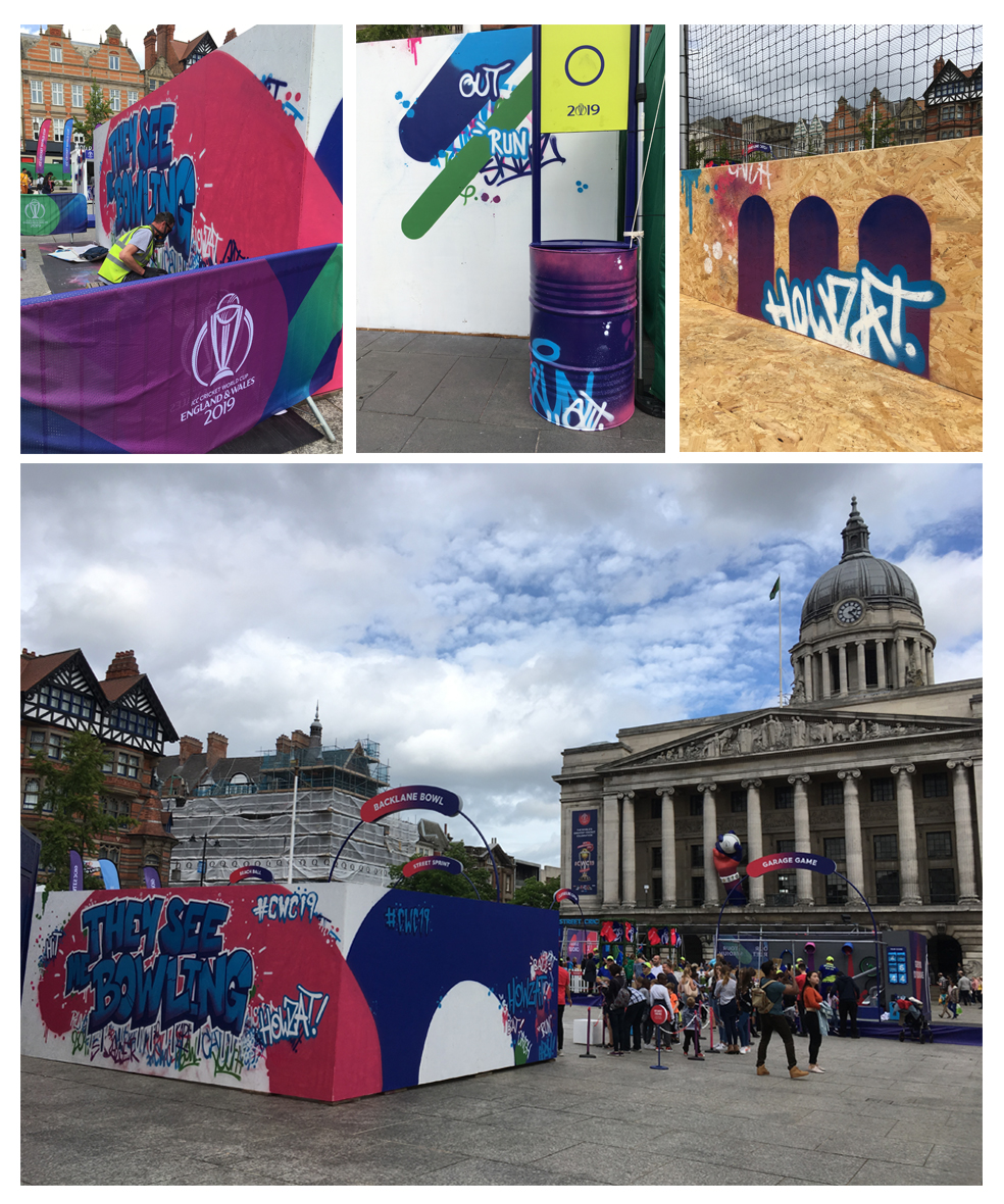 cricket world cup 2019 market square nottingham live graffiti