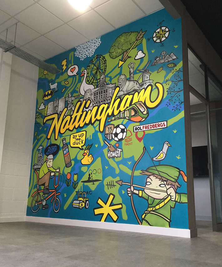 ROL FREDBERGS UK Ltd office murals nottingham